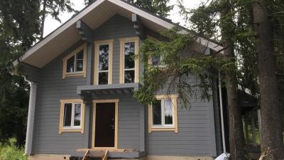 Наружная покраска деревянных домов