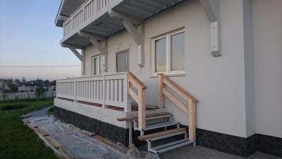 Оштукатуривание фасадов загородных домов