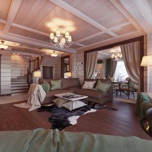 Внутренняя покраска деревянных домов